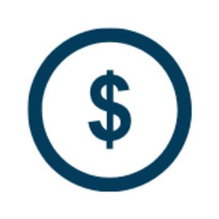 dollar sign on coin graphic