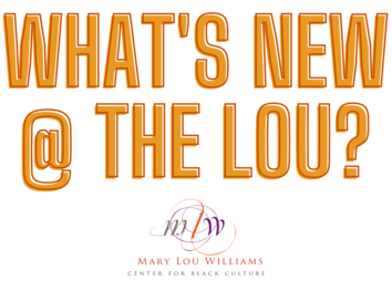 what's new at the lou text in orange block letters. mlw logo