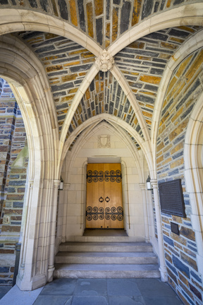 photo of archways of duke chapel