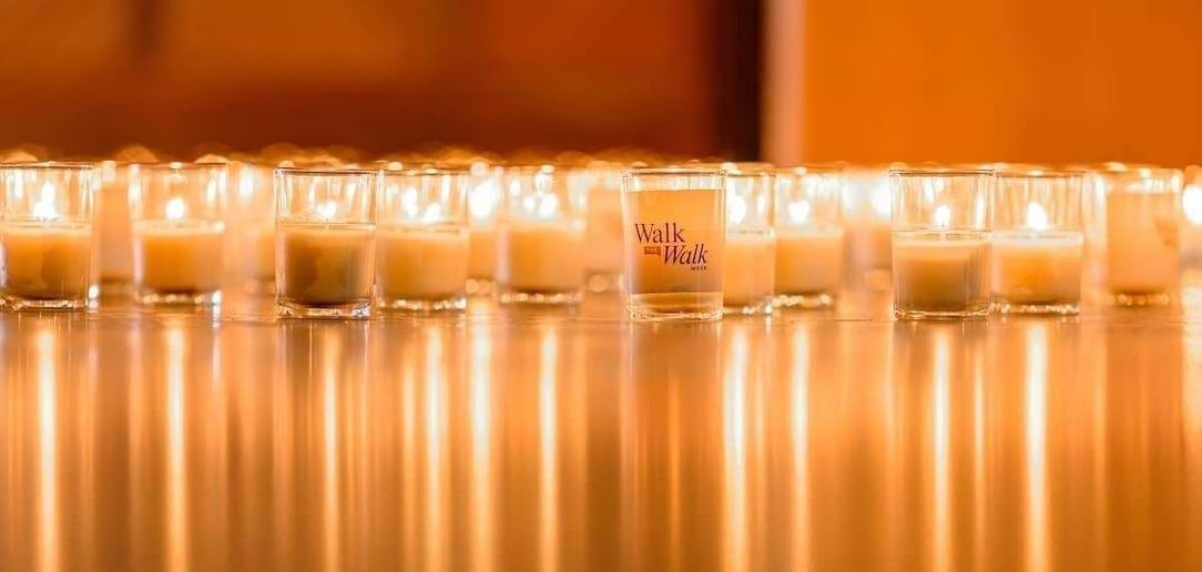 Walk the Walk Week candle