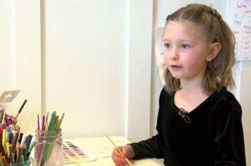 Heritage Elementary kindergartener Lillian Benedik