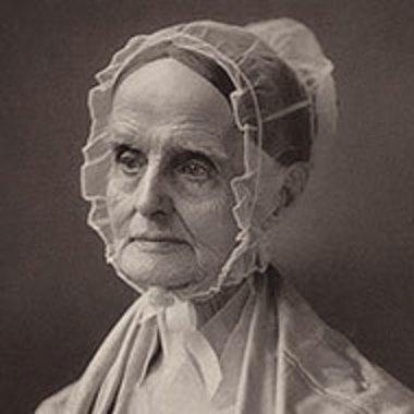 portrait of Lucretia Mott circa 1870