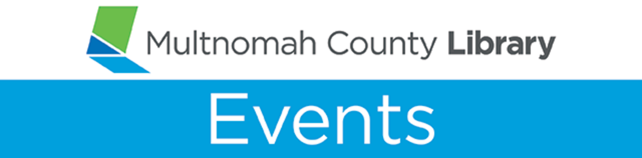 Logo for and link to website for Multnomah County Library events