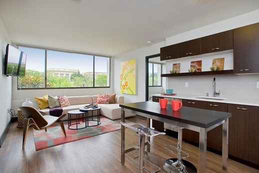 Kitchen in an apartment.