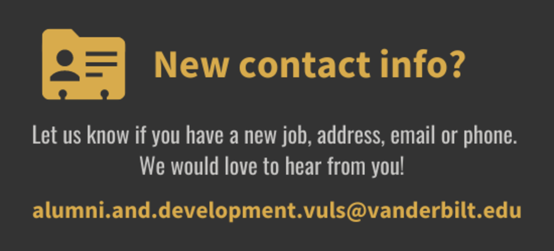New contact info? Let us know.