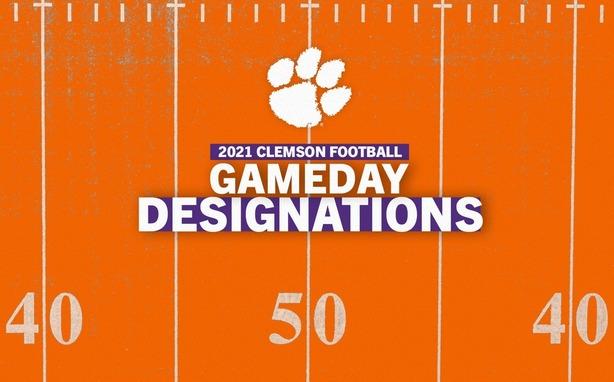 2021 Clemson Football Gameday Designations