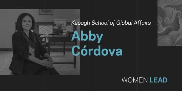 Abby Cordova, Keough School of Global Affairs