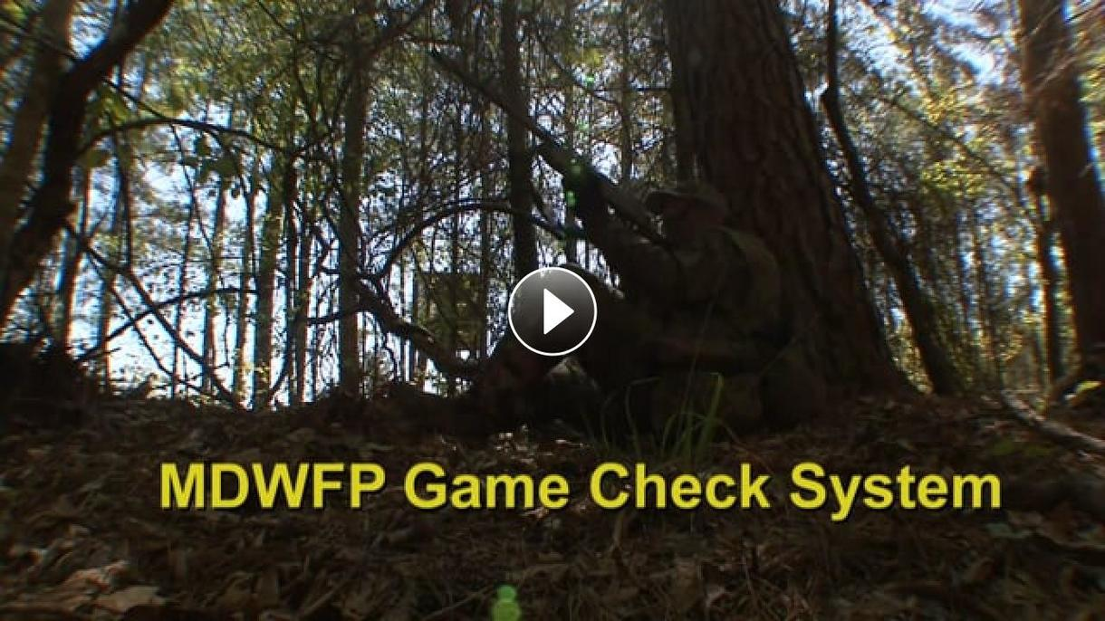 MDWFP Game Check System