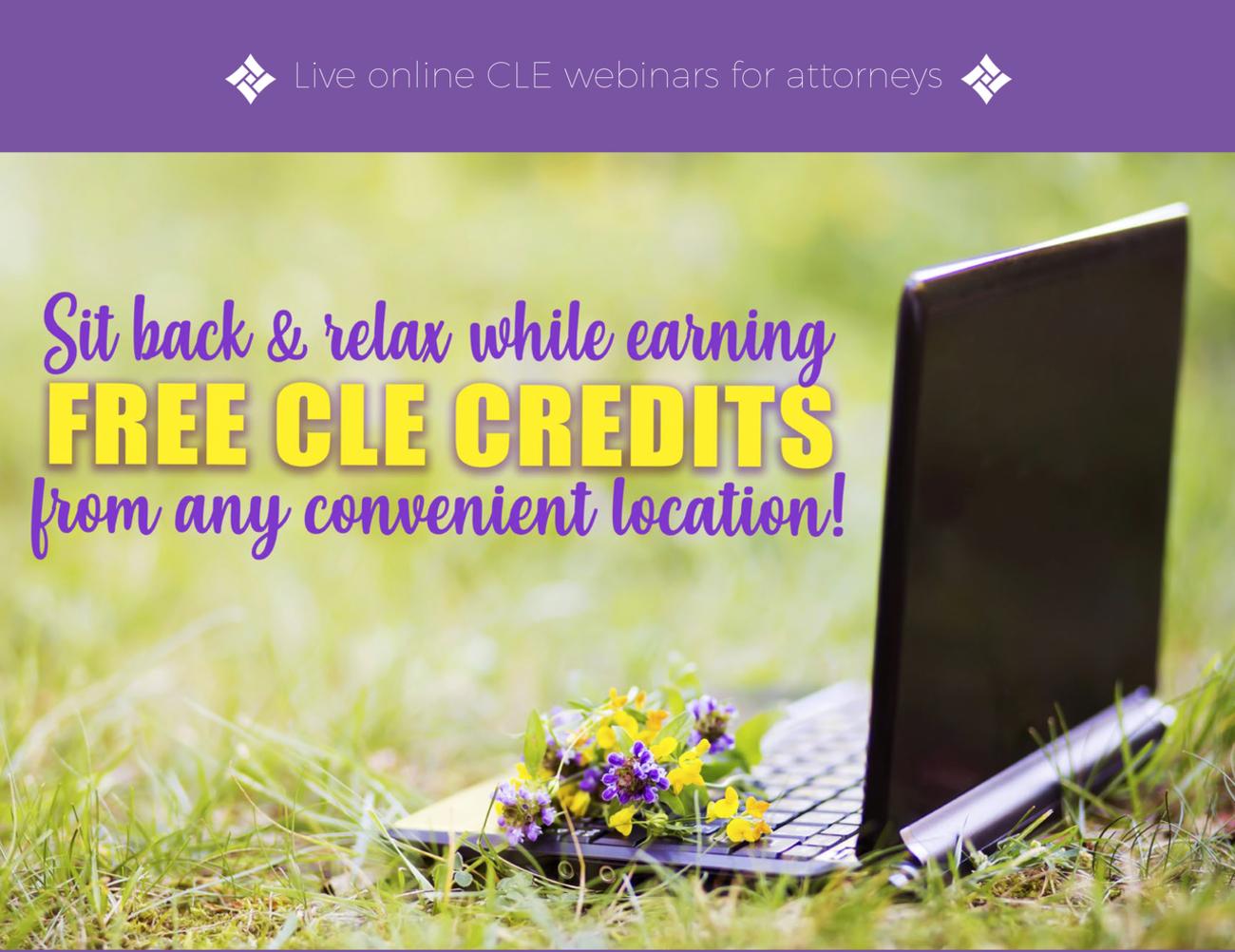 Live online CLE webinars for attorneys