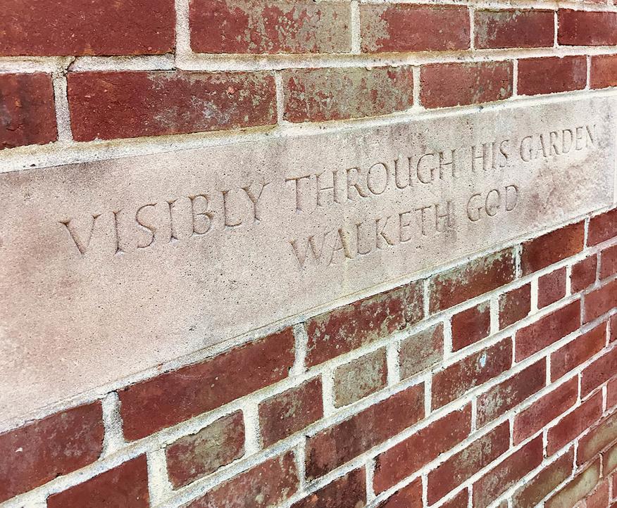 Visibly through his garden walketh God