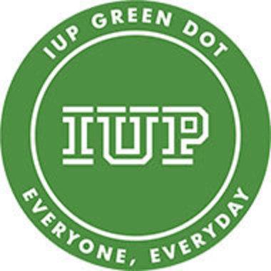 IUP Green Dot logo