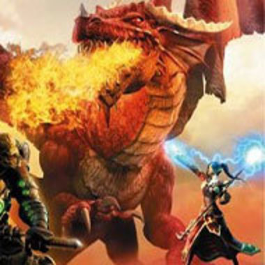 detail of Dungeons and Dragons online game's cover art
