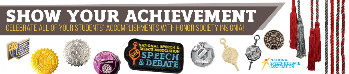 Show your achievement. Celebrate all of your students' accomplishments with Honor Society insignia