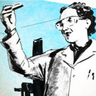 illustration of a scientist at work from the