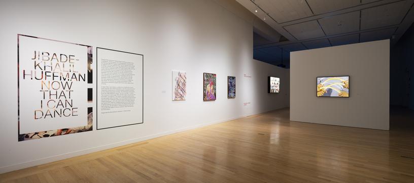 Art work in the Tufts University Art Gallery