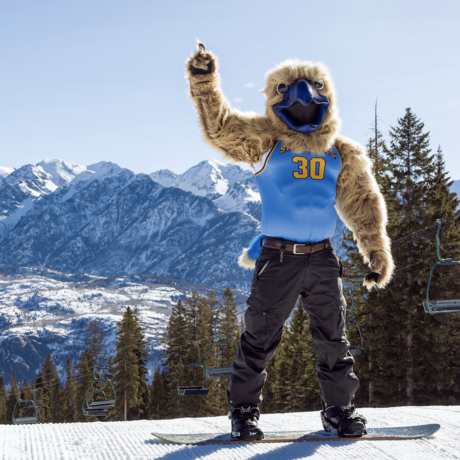Skyler snowboarding at Purgatory