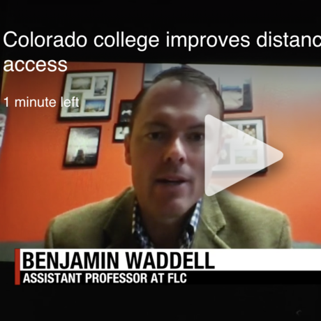 KOB4 News interview with Assistant Professor Benjamin Waddell