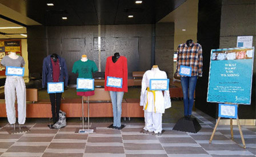 clothing display from