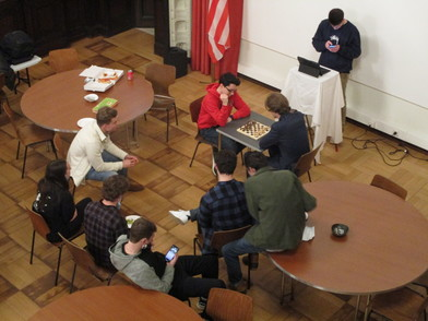 Aerial view of the chess tournament
