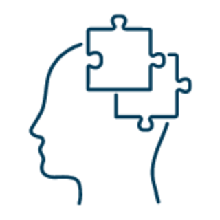 brain with puzzle pieces icon