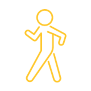 person walking graphic