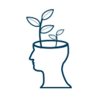 head with plant growing from it graphic