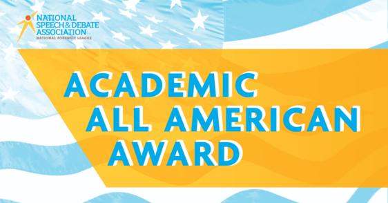 Academic All American Award