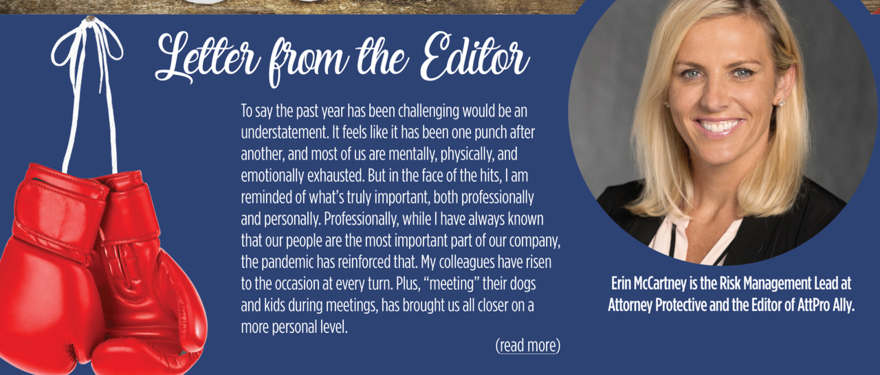 Letter From the Editor - Picture Erin McCarney