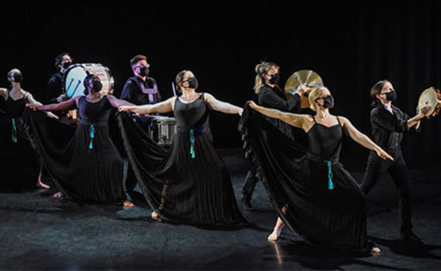 scene from IUP Dance Theater and Percussion Ensemble production of
