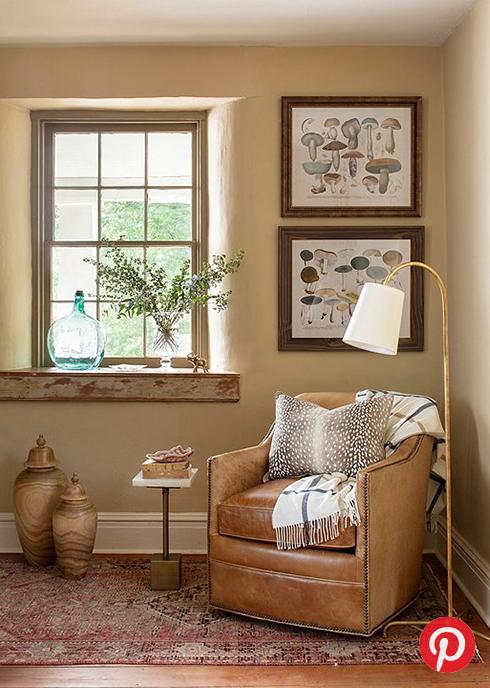 A cottage reading nook