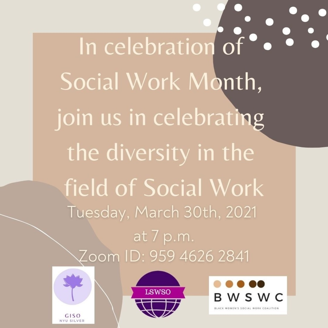 LSWSO Social Work month flyer