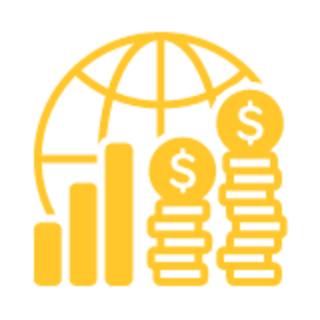 world money chart graphic