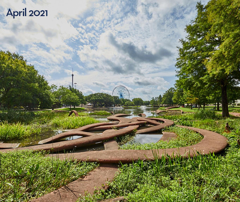 Leonhardt Lagoon at Fair Park in South Dallas.