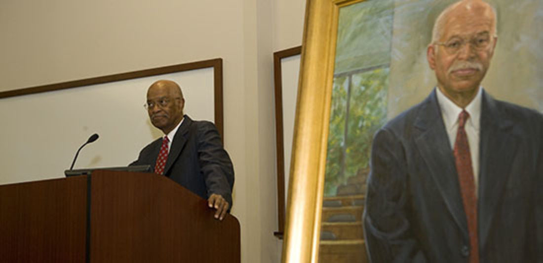 Director of Diversity, Equity and Community to be endowed in honor of Robert Belton. Belton is seen here at his portrait unveiling in 2007.