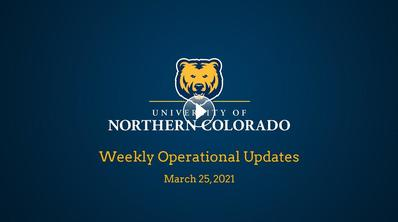 Weekly Operational Updates, March 25