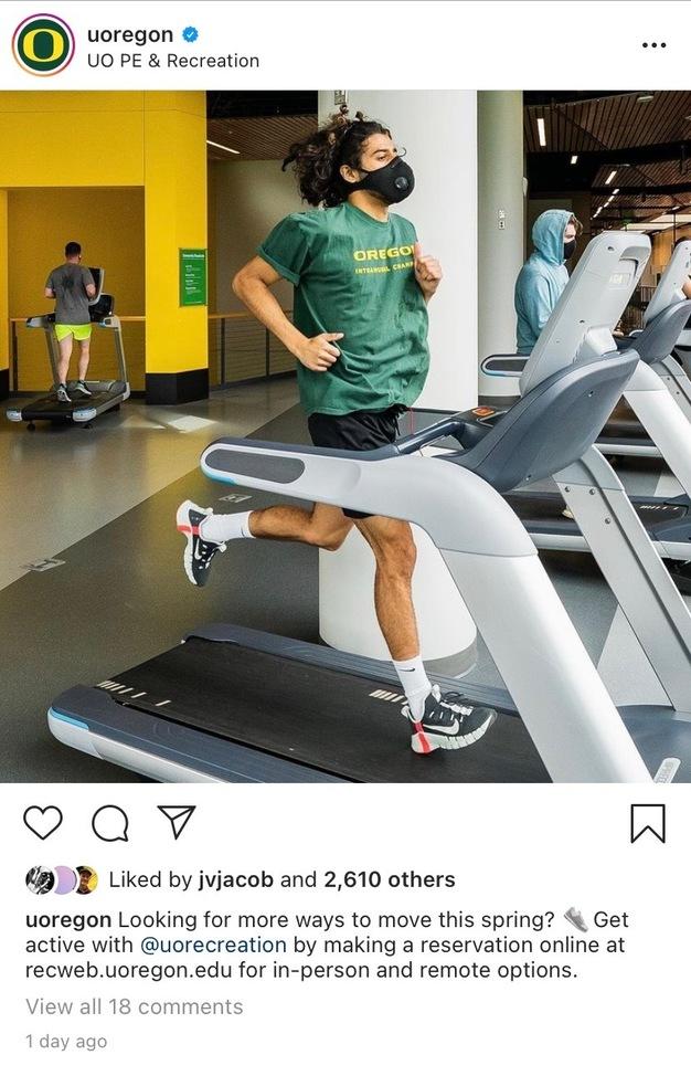 REC center runner Instagram