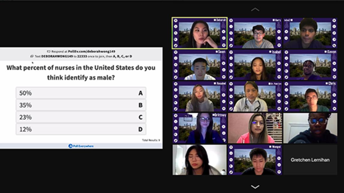 Virtual visit with NYU Meyers student group, Men Entering Nursing