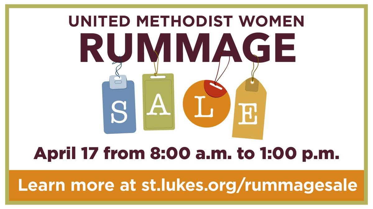 Rummage sale webpage link