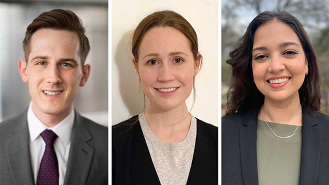 Joseph Adamczyk, Adrienne Lewis and Shivani Morrison