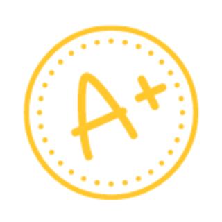 A+ sticker graphic