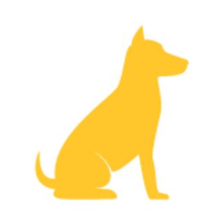 dog sitting graphic