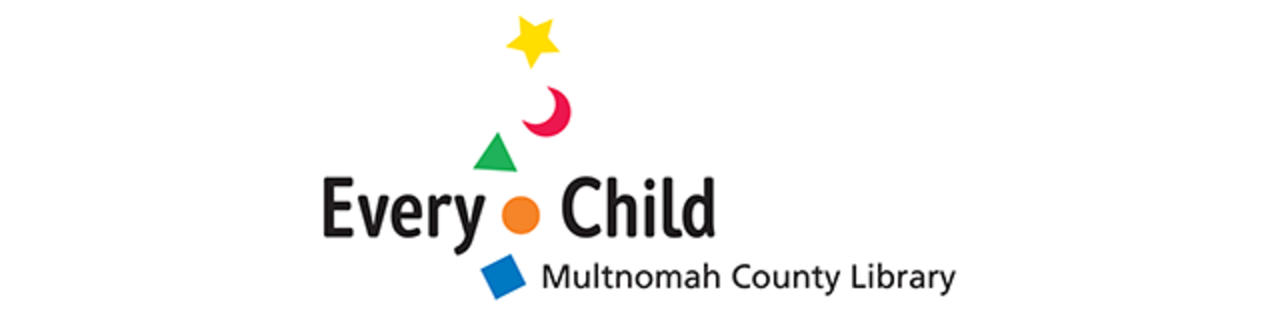 Logo for and link to Multnomah County Library Every Child initiative