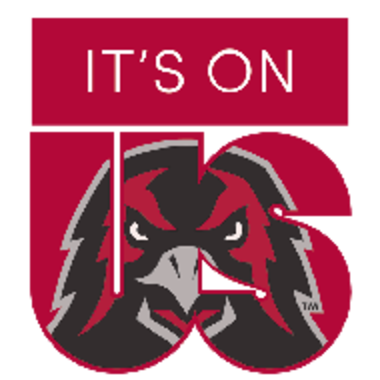 t's On Us logo with Athletics hawk in the words