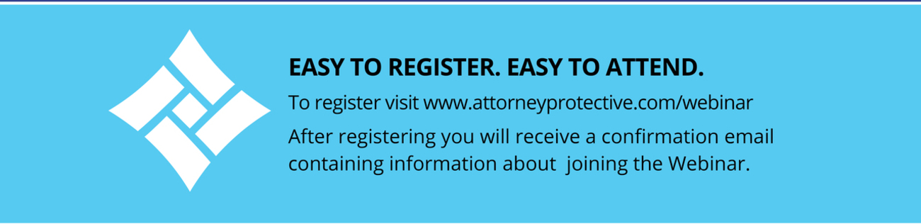 Easy to Register, Easy to Attend Attorney Protective Logo