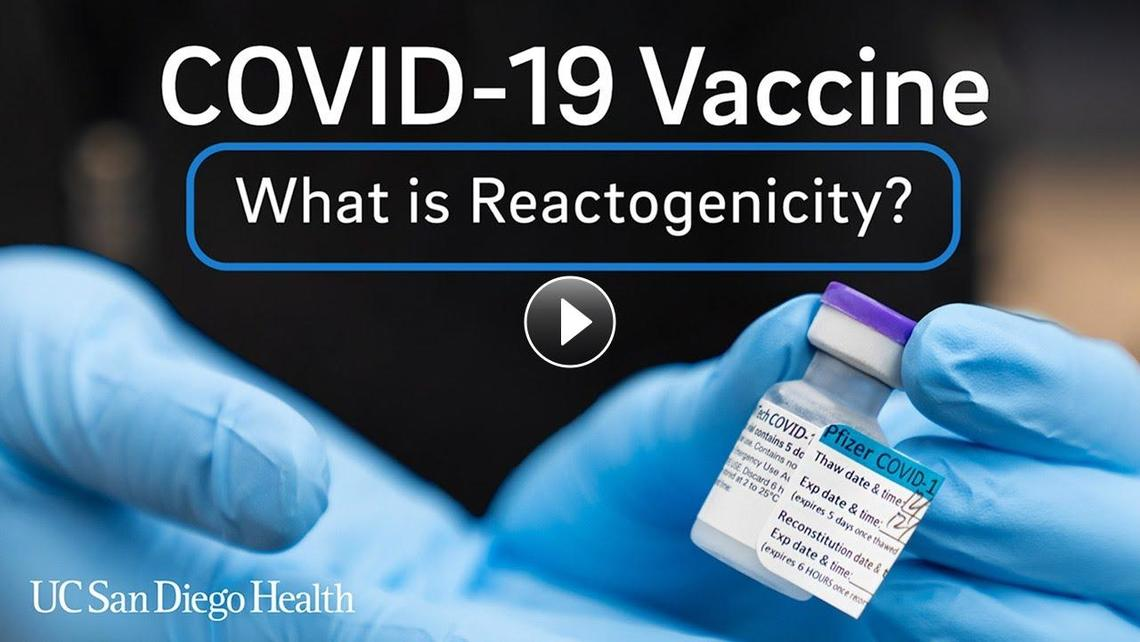 UC San Diego Health's Dr. Marlene Millen speaks about reactions that occur after vaccination