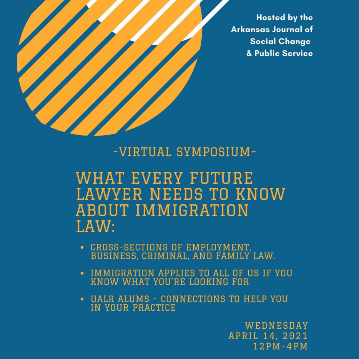 Arkansas Journal of Social Change & Public Service Virtual Symposium, 4/14, Noon-4p.m.
