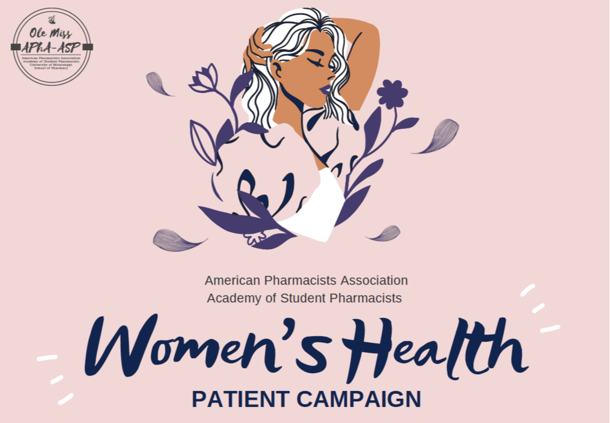 Drawing of a woman. Text says American Pharmacists Association Academy of Student Pharmacists