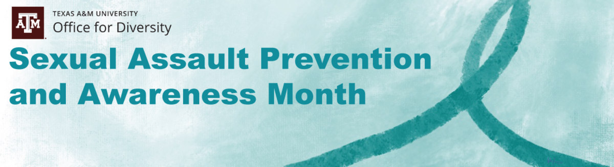 Sexual assault prevention and awareness month graphic