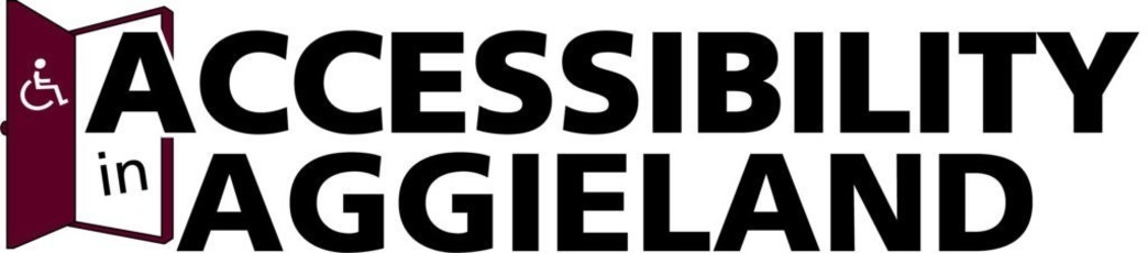 Accessibility in Aggieland logo