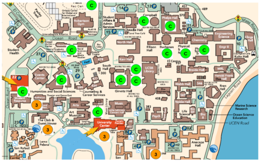 Map of Wireless Study Areas